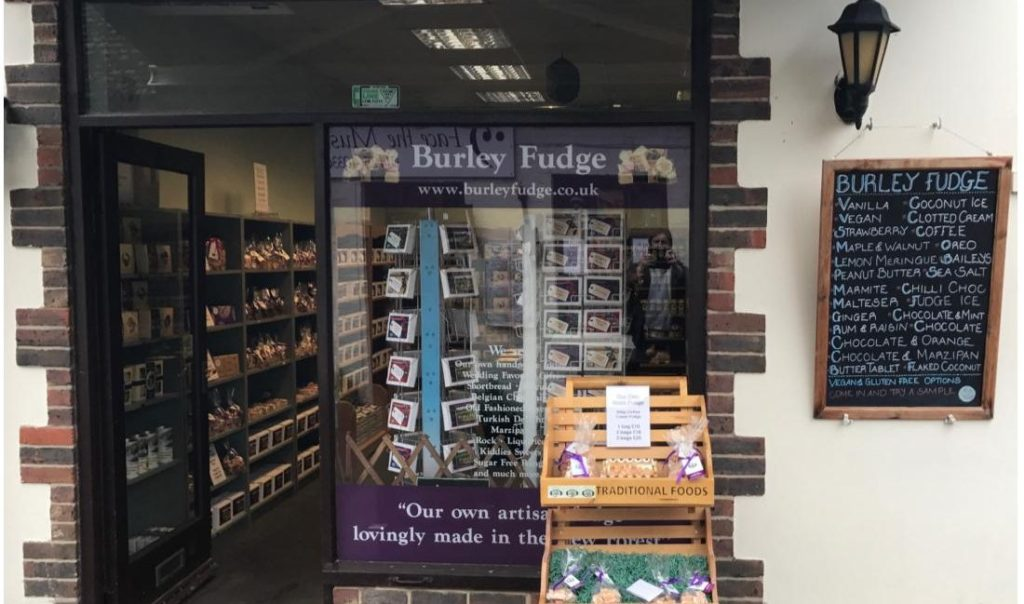 Burley Fudge Shop Window